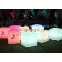 Quality Wireless Remote Control Glow Chair , Waterproof LED round bar stool for sale