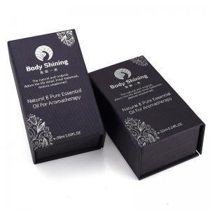 Foldable Art Paper Printed Cosmetic Boxes Gray Cardboard Makeup Packaging