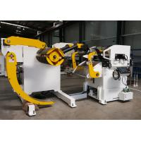 Cold Rolled Steel Hydraulic Decoiler Feeder PLC With Coil Car For Automobile Parts Manufacturing