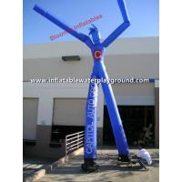 China 2 Legs Blue Advertising Inflatable Arm Waving Tube Man / Dancing Balloon Man on sale