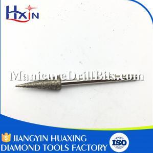 Cone Shape Diamond Nail Bit For Toenails , Professional Nail Drill Bits