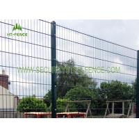 China Anti Rust 656 Welded Mesh Double Wire Fence Waterproof With 60 × 60 Square Post on sale