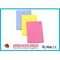 Quality Needlepunched Nonwoven Cleaning Wipes Color Dyeing Disposable Or Recycle use for sale
