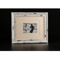 "China Single Opening Double Matted 5""x7"" Collage Photo Frame In Distress White on sale"