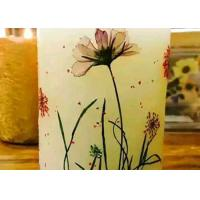 Quality Round Shape Dry Leaves Artwork , Dried Flower Candles For Party Table Ornaments for sale