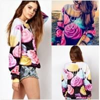Quality Women The Cake Pullovers Funny 3D Sweatshirts Food Print Plus Size Galaxy Sweaters Hoodies for sale