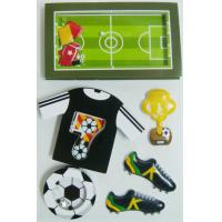 Black Gray Layered Paper Shaker die cut Stickers Football Game Decorative for sale
