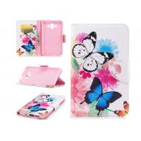 Quality Colorful Butterfly Card Pocket Phone Case , Huawei Phone Wallet Case for sale