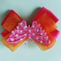 Quality Butterfly Toddler Girl Hair Accessories Multi Layer Use On Different Occasions for sale
