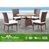 All Weather Wicker Garden Furniture Table And Chairs 5 Pc Patio Dining Set