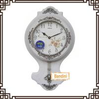 China Hot Sales China Factory polyresin Crafts Wall Hanging Decorative Clock Wall Clock B8082WS on sale