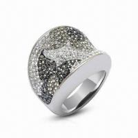 Quality Swarovski Jewelry/Ring, Sterling Silver Ring with Crystal Ring, Available in New Design for sale