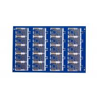Quality Blue soldermask 8 Layer 1MM FR4 Immersion gold PCB for  power supplies communications for sale