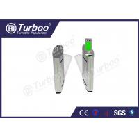 Access Control Flap Barrier Gate / Electronic Turnstile Gates Infrared Sensors