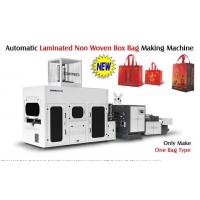 Quality Full Automatic Laminated Non Woven Box Bag Making Machine With Handle Attached for sale