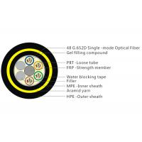 Aramid Yarn ADSS Fiber Cable With Double HDPE Sheath Water Blocking Tape