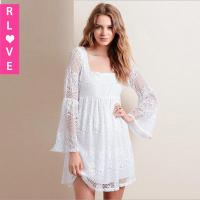 Quality 2015 new winter lace dresses Bohemia solid color halter Slim waist long-sleeved dress for sale