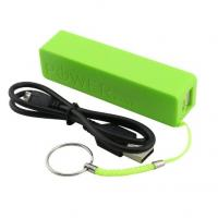 China Portable Key Ring Cell Phone Charging Station Green 2600mAh USB Port For iPhone4 on sale