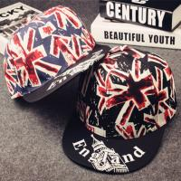 Quality Blank England Flag Snapback Baseball Caps Printed Label / Plastic Closure Available for sale