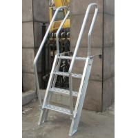Quality Easy Carrying Bulwark Ladder Aluminum , Inclined Marine Dock Ladders Light Weight for sale