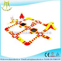 China Hansel terrfic amusement park slide for sale for swimming party on sale