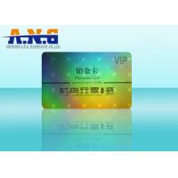 Quality Laser Film Holographic Business Cards / CMYK Print Barcode Membership Cards for sale