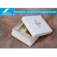 Buy cheap Handmade Luxury Cosmetic Packaging Boxes / Storage Box With White EVA Insert from Wholesalers