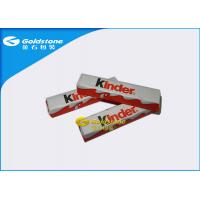 China Optimum Flatness Chocolate Foil Paper Wrappers For Chocolate Bar 1 - 10 Colors Printing on sale
