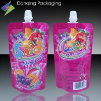 Quality juice plastic packaging, spout doypack, liquid stand up pouch with spout for sale