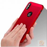 China Heat dissipation Mesh Rubberized Hard PC phone back cover for iphone X case on sale