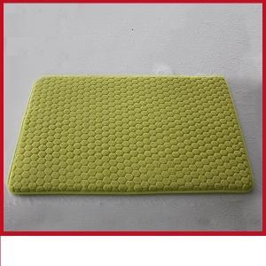 Quality Colored Luxury 17 X 24 Bath Rug , Slip Proof Memory Foam Bathroom Mats for sale