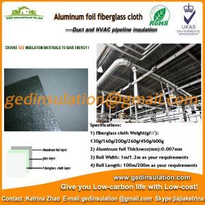 Aluminium Foil coated fiberglass cloth thermal insulation fabric