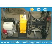 China Honda Gasoline Engine Hoist Cable Winch Puller Tight line WIth Big Drum 5t on sale