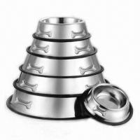 Quality Stainless Steel Pet Dog Bowls Feeders for sale