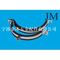 China 150 mm Heavy Duty Pipe Clamps With Rubber Lined M8 / M10 Nut Connection on sale