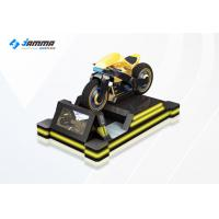 Quality 9D Virtual Reality Motorcycle Racing Simulator 3 Exclusives Games Black Yellow 24'' Monitor for sale