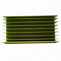 Buy Aluminum Heatsinks, Green Powder Coating, Customized Designs are Welcome at wholesale prices