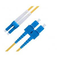 Quality Duplex 9 Ft  LC To SC Single Mode Fiber Patch Cable 2.0 Mm OS1 Series for sale