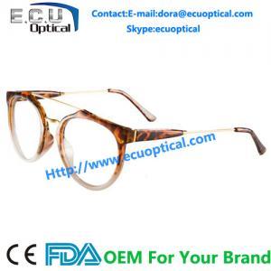 China 2014 Big Size Lens Half Acetate Frame Metal Round Glasses Frame on sale