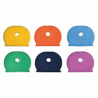 China Identifier Medium Plastic Key Holder Assorted PK20 Key Caps Silica Rubber Covers Tags on sale