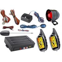 Quality Anti Hijacking Auto Car Alarm System With Lcd Alarm Remote Controls for sale