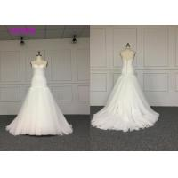 China Ladies Wedding Dresses strapless dress with skirt braces Crushed drill mosaic Receiving waist design on sale