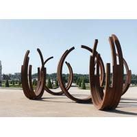 Quality Dancing Ribbons Appearance Corten Steel Sculpture For Outdoor Decoration  for sale