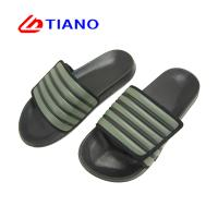 China Stripes Style Soft Velcro Footbed Summer Slipper Shoes on sale