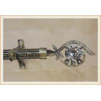 China Classical delicate crystal zinc alloy curtain rod finials for home decoration on sale