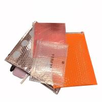 Quality Pink cosmetic item packaging ziplock air bubble bag zip top bubble bag for sale