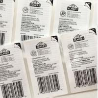 Plastic Peel Off Sticker Labels , Various Self Adhesive Removable Labels for sale