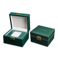 Quality Empty Wooden PU Leather Watch Box MDF Wrapped Velvet Inside 295 X 85 X 40mm for sale