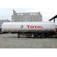 Quality Heavy Duty 3 Axle 45000L Oil Tanker Semi Trailer 4 Compartments 45M3 For Transporting Oil for sale