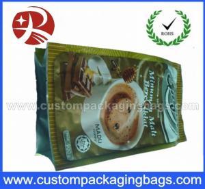 China Plastic Foil Side Gusset Coffee Packaging / coffee bean bags Waterproof on sale